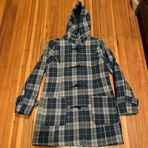 Black River plaid coat size large